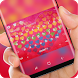 Colorful Love heart Keyboard Theme by Super Hot Themes Design Studio