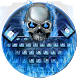Blue Skull Keyboard Theme by Super Cool Keyboard Theme