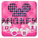 Pink cute Micky theme snow background by Rose theme