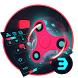 RED Neon fidget spinner 3D cool keyboard by Bestheme Keyboard Designer