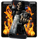 Graveyard Skull Revolver Gun Theme by Android Themes by PIXI