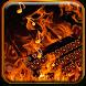Burning flame keyboard