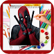 How to Draw Deadpool by kids color