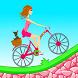 Biker Girl Hill Climb Cycling by MOBILI