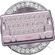 Diamonds and Pink Keyboard Theme by Mobile Premium Themes