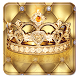 Noble luxurious crown theme gold wallpaper by Rose theme