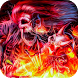 Flame Rock Skull Keyboard by Cool Theme Creator