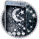 Diamond Theme Silver black Star Glitter Launcher by Theme King