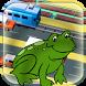Frog jump cross road