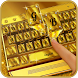 Aurum Gold Keyboard Theme by Mobile Premium Themes