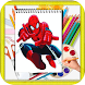 How TO Draw Spiderman by kids color