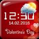 Valentine's Day Digital Clock by The World of Digital Clocks