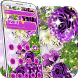 3d purple rose butterfly theme by cool theme creator
