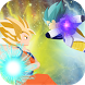 Super Saiyan God Goku v Ultra Instinct Blue Vegeta by Gunaga