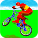 Superheroes Tricky Bicycle Stunts: Offroad Racing