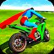 Ultimate Superhero Tricky Bike Stunts Racing Games