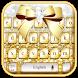 Golden Glitter Bowknot Keyboard Theme by Luxury Keyboard Theme