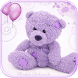 Violet Teddy Bear Theme by MT Digits