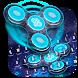 Fidget Spinner Neon Space 3D Keyboard by Keyboard Theme Creator