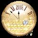 2018 Gold Diamond Clock Keyboard Theme by Enjoy the free theme