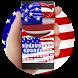 USA Flag Keyboard by Keyboard Design Paradise