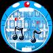 Blue Cat in Sky Theme&Emoji Keyboard by Music Emoji Keyboard Theme