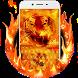 Burning tiger keyboard by Super Keyboard Theme
