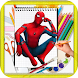 How To Draw Spider-man by kids color