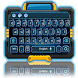 blue neon future keyboard by Keyboard Theme Factory
