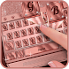 Rose Gold Keyboard Theme by Mobile Premium Themes