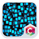 Blue Cubes CLauncher Theme by CG-Live-Wallpapers