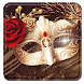 Mysterious Golden Mask theme and Rose wallpaper
