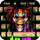 Hell evil clown graffiti keyboard theme by Cool Theme Creator