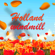 Autumn Holland Windmill by Keyboard and HD Live Wallpapers