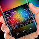 Colorful neon pixel bubble keyboard