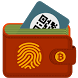 Blockchain Bitcoin Wallet - fingerprint by Digital global