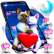 3D Love Couple Cat Theme by no.1 3D Theme