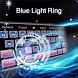 Blue Tech Ring Keyboard by Cool Keyboard Theme Studio