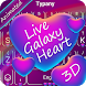 ANIMATED Keyboard Live Galaxy Heart by 3D / Animated Keyboard Themes