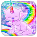 Vivid Pinky Unicorn Kitty Typewriter Theme by Android Themes by PIXI