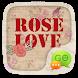 GO SMS ROSE LOVE THEME