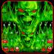 Green fire skeleton by Echo Keyboard Theme