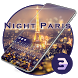 Night Paris Neon Shines Your Lover Under Eiffel by Bestheme Keyboard Designer