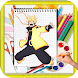 How to Draw naruto characters by kids color