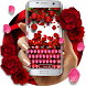 Red Rose Petal Floral Keyboard theme by Creative Theme Designer