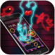 Neon lights Cupid Lovers cool rock color theme by Theme and keyboard design team