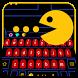 vivid yellow p-man game theme by Bestheme Keyboard Designer 3D &HD