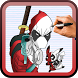 How to draw DeadPool by Drawings Apps