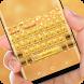Gold Glitter Diamond Keyboard Theme by Sexy Theme for Smart Phone
