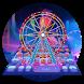 Neon Ferris Wheel keyboard by Bestheme Keyboard Designer 3D &HD